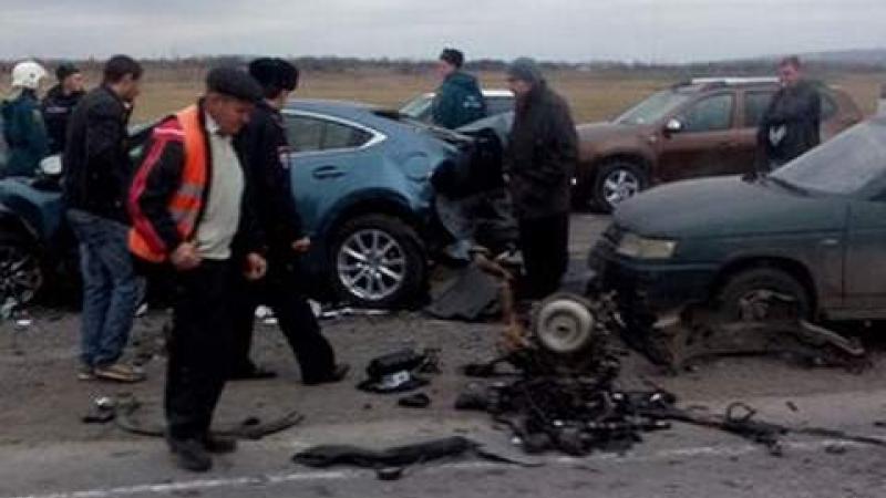На 1032-м километре автодороги М-4 «Дон» произошло крупное ДТП, жертвами которого стали три человека