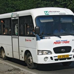 В Ростове-на-Дон утром 22 октября на 20-й линии произошло тройное ДТП с участием маршрутки Hyundai County № 54, легковушки Skoda и автобуса Scania