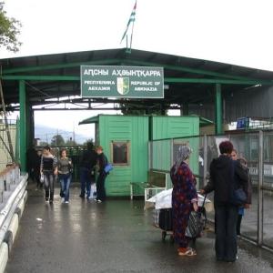 граница Абхазии с Россией