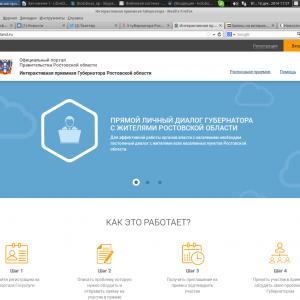 Интерактивная приёмная Василия Голубева