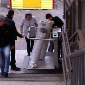 В Ростове-на-Дону произошел необычный случай с надземным пешеходным переходом, который расположен по улице Малиновского.
