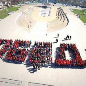 Студенты вузов Ростова провели акцию, приуроченную к 70-летию Победы.