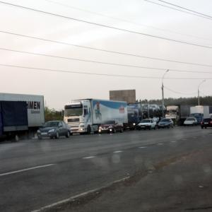 В среду днем в Волгодонске случилось дорожно-транспортное происшествие, из-за которого существенно был затруднен проезд в новый город.