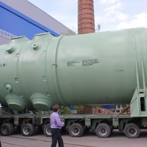 Корпус реактора для Ростовской АЭС следует водным путём в Волгодонск