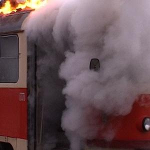 В Таганроге трамвай задымился во время движения